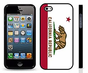 iStar Cases? iPhone 4 Case with California Republic Flag, California Golden Bear Design , Snap-on Cover, Hard Carrying Case ( Black) by icecream design