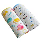 #7: Travel Diaper Changing Pad Bamboo Fiber and Cotton Mat with Waterproof Layer Reusable Diapering Sheet Mattress for Baby, Pack of 2