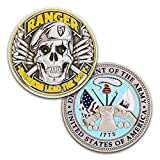 ranger coin - Army Ranger Challenge Coin! Amazing 3D US Army Skull Custom Coin! Designed By A Military Veteran! Officially Licensed Army Military Coin! 1.75