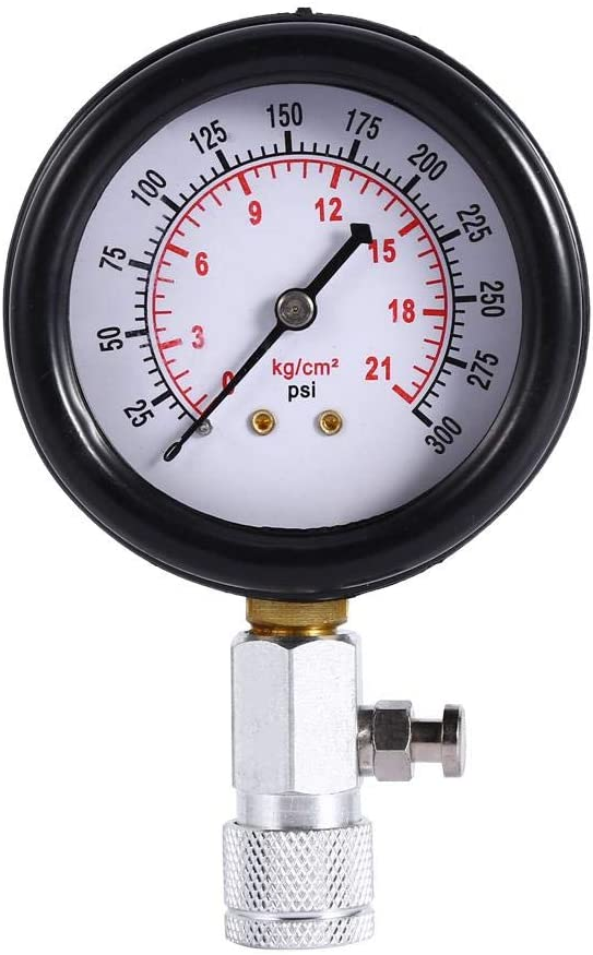 Dwawoo Compression Test Kit Petrol Engine Compression Tester Gauge Kit with 4 Adaptor for Car Motorcycle with Red Case