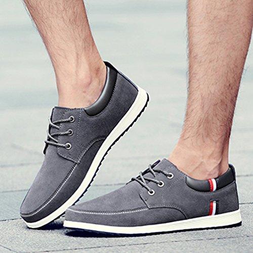 Schuhe Männliche Grau Herren Sneakers Herren Schuhe Leder Boots Casual Frühling qn81f