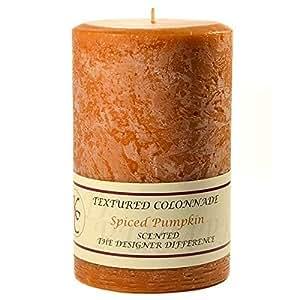 Spiced Pumpkin 4 x 6 Textured Pillar Candles
