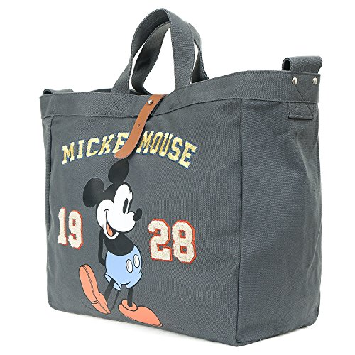 ililily Disney Vintage Mickey Mouse Multi-purpose Cross Body Shoulder Tote Bag , Dark Grey Disney Messenger