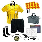 Referee Soccer Package Short Flag Whistles Duffel Bag Yellow Jersey A Medium