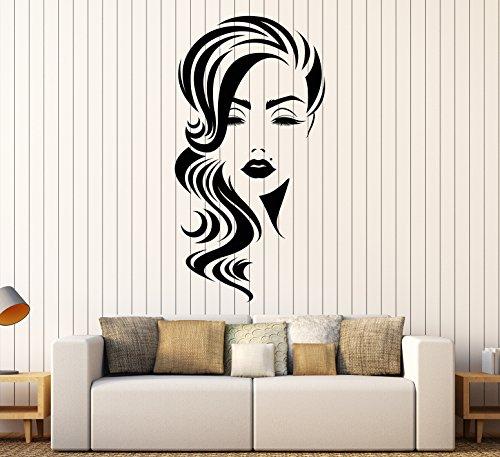 Vinyl Wall Decal Girl Face Makeup Beauty Spot Hair Salon Stickers Large Decor (1499ig)