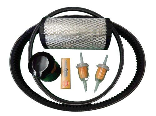 Club Car Precedent Gas Golf Cart Tune Up Kit w/ Oil Filter Drive & Starter Belt
