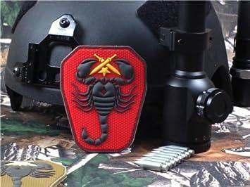 Aquiver 3D PVC ejército EE. UU. Militar Táctica Moral del ejército Insignia DIY táctica Militar Parche Rojo: Amazon.es: Electrónica