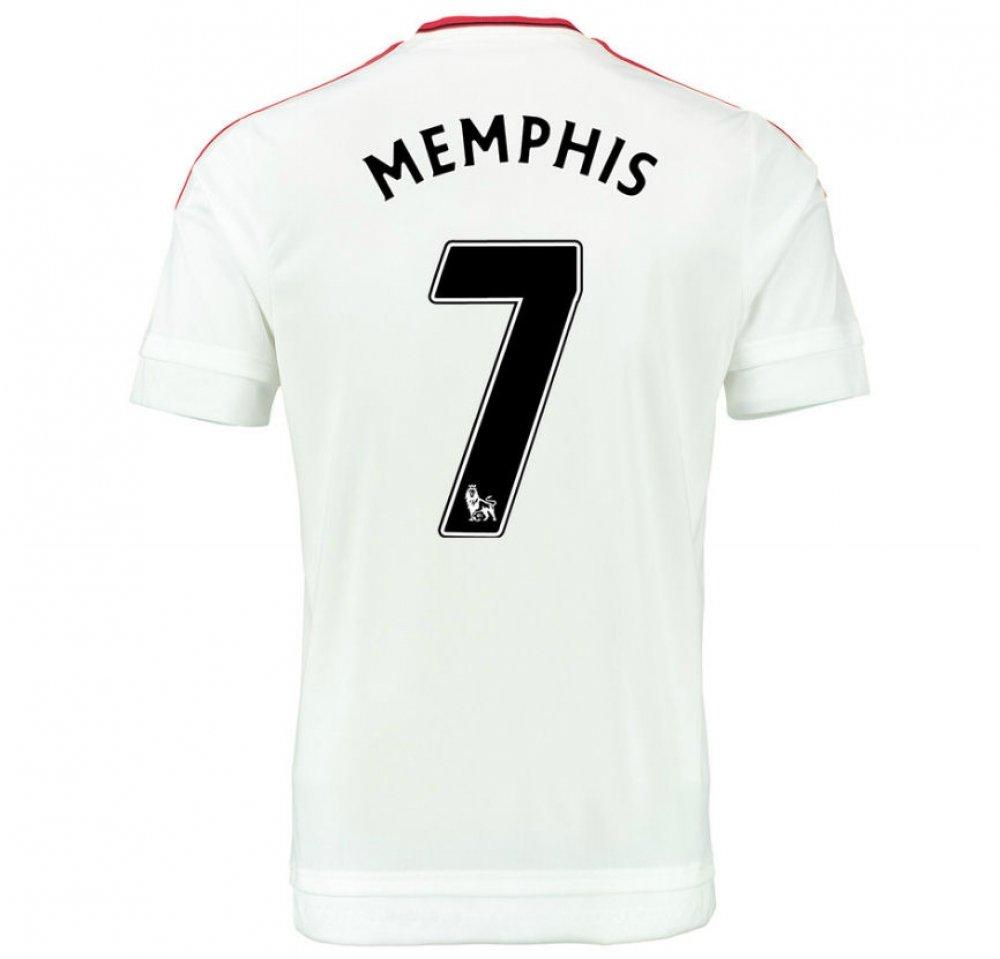 2015-2016 Man Utd Away Football Soccer T-Shirt Trikot (Memphis Depay 7) - Kids