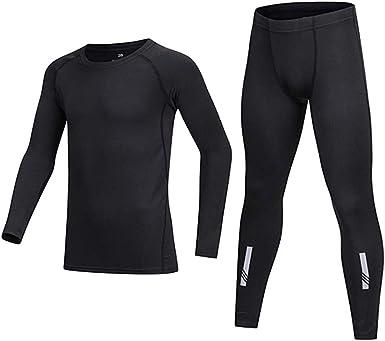 Boys Girls Long Sleeve Compression Shirts Pants Athletic Base Layer Set Underwear Tops Bottom