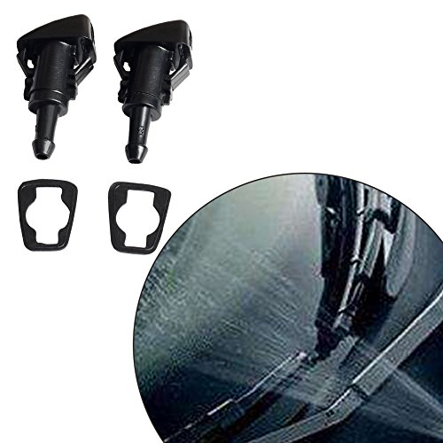 Perfect Replacement Front Windshield Washer Spray Nozzle Jet & Rubber Gasket for GM Truck,Pickup,SUV - Chevy/Chevrolet GMC FORD Buick