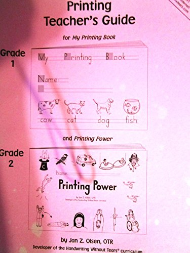 My Printing Book - Teacher's Guide