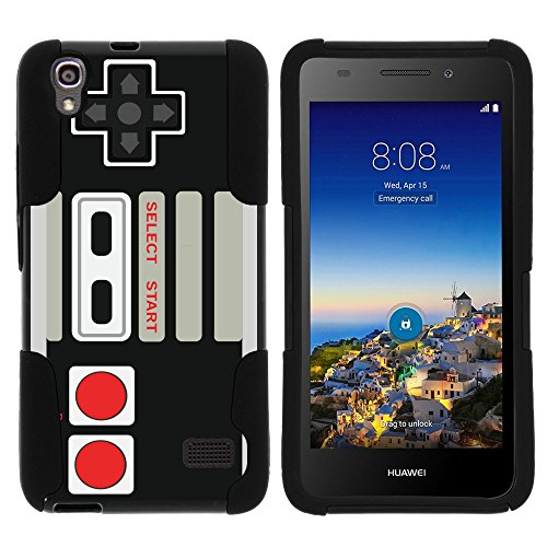 MINITURTLE Case Compatible w/ Huawei Pronto LTE Case Hard Shell Cover Hybrid Gel Silicone Bumper, SnapTo H891L Game Controller