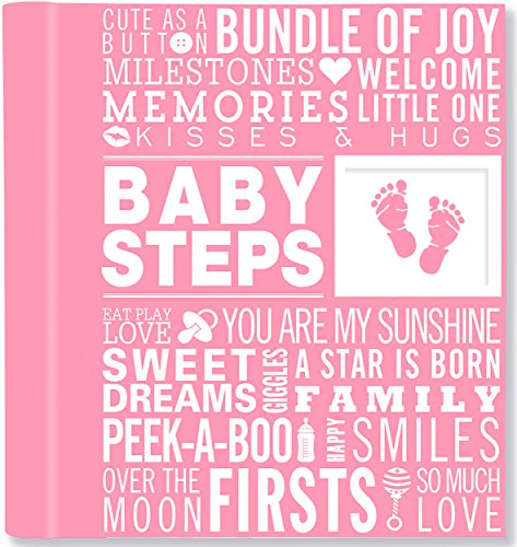 Baby Steps: Baby's First-Year Album (Girl's Baby Book) (Best Selling Albums By Year)
