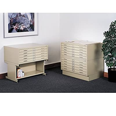 Safco Products 4995BLR Flat File Closed Base for 5-Drawer 4994BLR Flat File, sold separately, Black