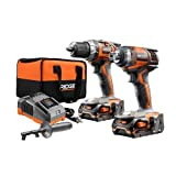 RIDGID TOOL COMPANY GIDDS2-3554586 RIDGID 18V Hammer Drill & 3Sp Impact Kit - 3554586,