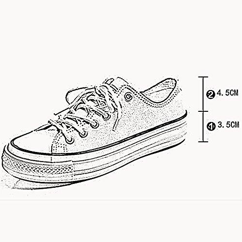 5 quatre Couleur pour CN37 confortable taille couleurs Toile Toe UK4 5 à Round Blanc femmes choisir plates chaussures Casual été Chaussures EU37 NAN de Bg4qWanP