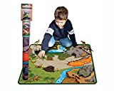 Neat-Oh Dinosaur Prehistoric World 2-Sided Playmat with 2 Dinos