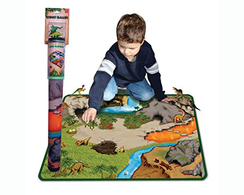 Neat-Oh! Dinosaur Prehistoric World 2-Sided Playmat w/2 dino