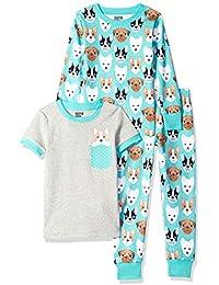 3-Piece Snug-Fit Cotton Pajama Set