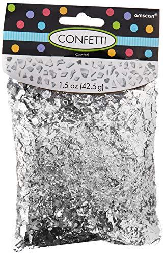 (Amscan 369002.18 Party Supplies, 1.5 oz, silver)