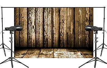 ERTIANANG 150x220cm Retro Wooden Wall Photography Background Mud Yellow Foldable Studio Background Backdrop
