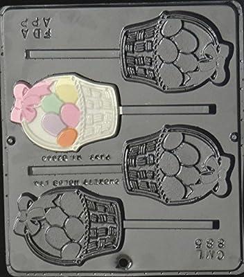 Easter Egg Basket Lollipop Chocolate Candy Mold Easter 885