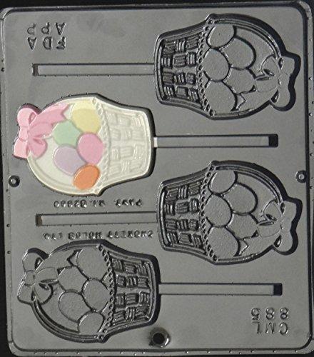 Easter Egg Basket Lollipop Chocolate Candy Mold Easter 885 (Basket Mold)