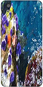 Snoogg Abstract Underwater Designer Protective Back Case Cover For One Plus X
