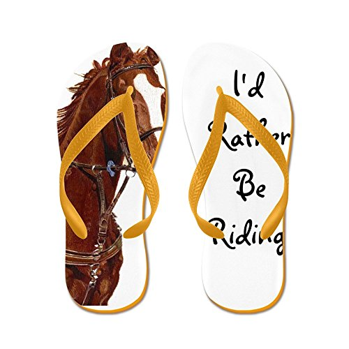67b4c9f4a13 CafePress - Id Rather Be Riding! Horse - Flip Flops