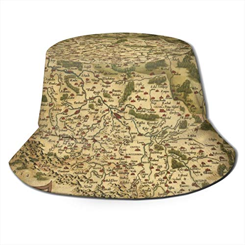 Old Retro Map Unisex Sunmmer Travel Bucket Cap Hat Fisherman Bucket Sun Hat for Hiking Beach Sports Black (Best Urban Neighborhoods In America)