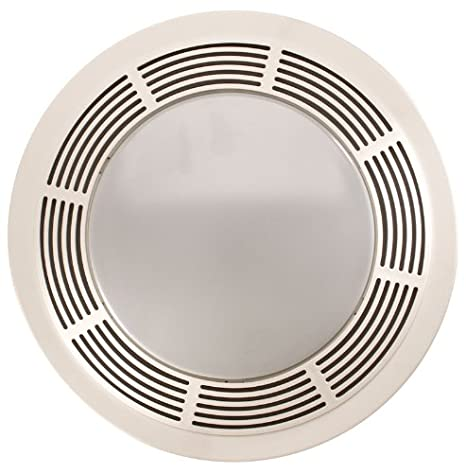 Broan 751 Fan And Light With Round White Grille Glass Lens 100 CFM 35