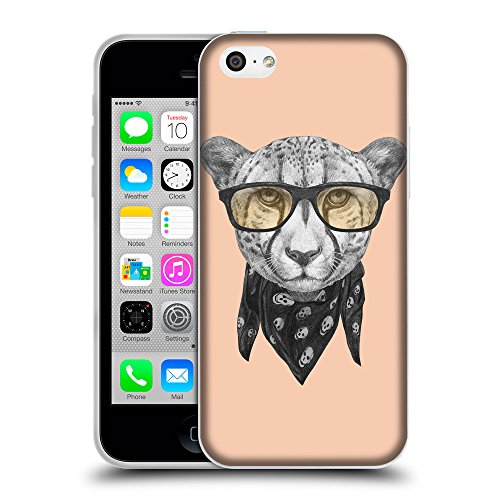 GoGoMobile Coque de Protection TPU Silicone Case pour // Q05030604 Foulard cheetah Abricot // Apple iPhone 5C