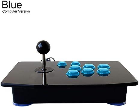 Arcade Rocker - Arcade Game USB Stick Botones Controlador, Direcciones computadora Arcade Control de juego, Zero Delay Joystick Control Dispositivo para PC Android Smart TV, azul: Amazon.es: Bricolaje y herramientas