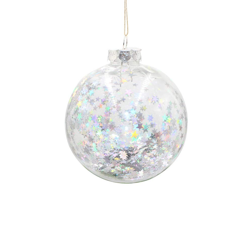 MomeChristmas Ball1PC Best Gift Christmas Tree Pendant - Hanging Home Ornament - Christmas Decoration Ball - Holiday Ornaments (A)