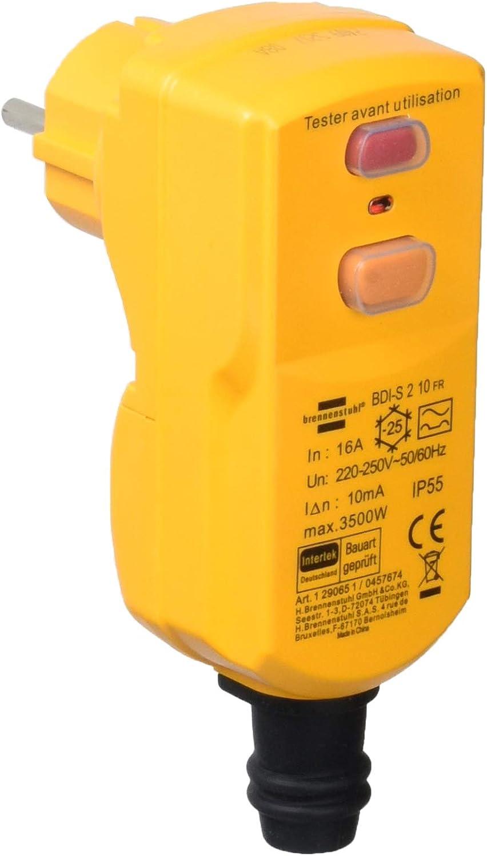 Brennenstuhl 1290651 Stecker Differenzdruck 10 Ma 1p N T 16 A 230 V Ip55 Baumarkt