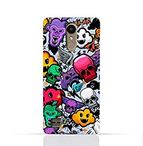LG K10 2017 TPU Silicone Case With Funky Seamless Freak Texture Design