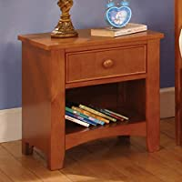 247SHOPATHOME Idf-7905OAK-N Childrens, nightstand, Oak