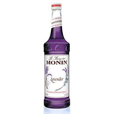 Monin - Lavender Syrup, Aromatic and Floral, Natural Flavors, Great for Cocktails, Lemonades, and Sodas, Vegan, Non-GMO, Gluten-Free (750 ml)