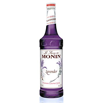 Monin Lavender Syrup, 25.4-Ounce (750 ml) Glass Bottle with Monin BPA
