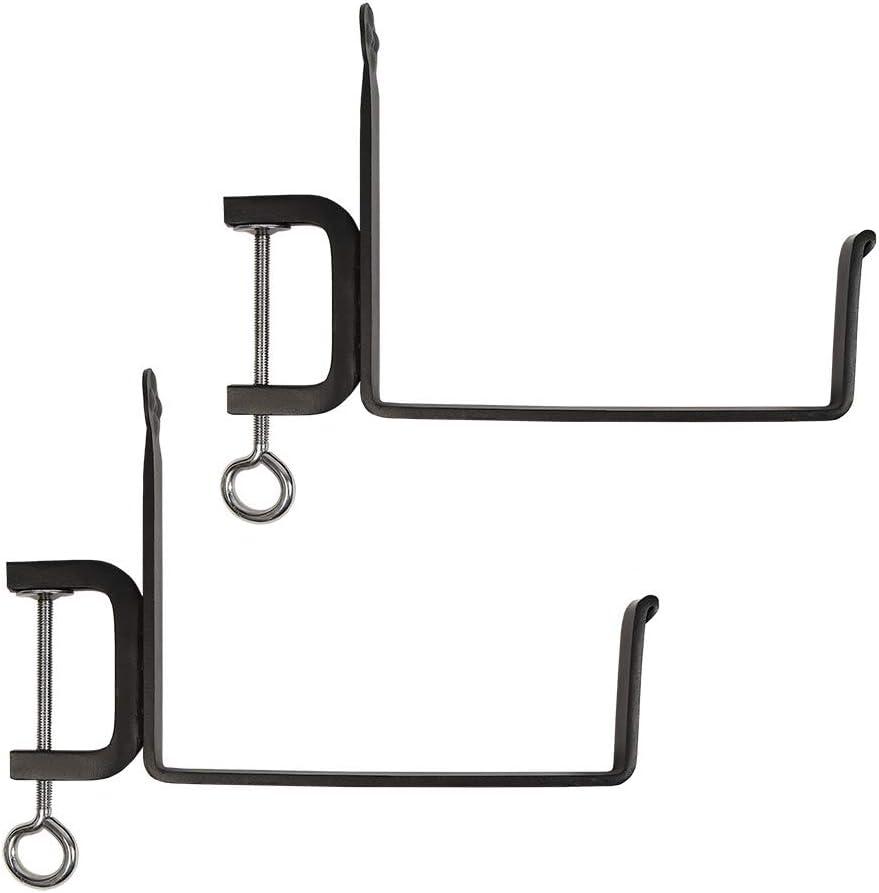 Achla Designs SFB-02C, 8 inch Railing clamp Window Flower Box Brackets, Black