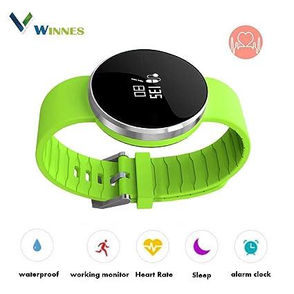 Reloj inteligente ultrafino, pulsera para monitorear la actividad deportiva, pulsera impermeable para iOS / Android