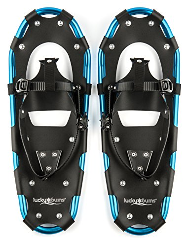 Lucky Bums Youth and Adult Snowshoes, Blue, 26-inch