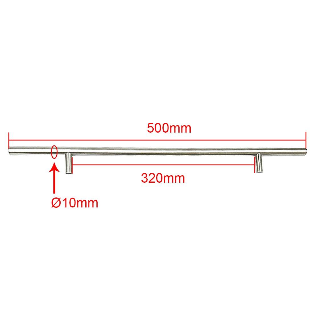 Tirador de la manija de la barra T Di/ámetro de la perilla tirador de la puerta de la cocina del acero inoxidable de 10mm 64 100mm