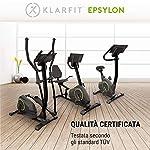 Klarfit-Epsylon-Cycle-KC1-Cyclette-Sistema-Frenante-Magnetico-a-24-Livelli-Volano-da-12-kg-Trasmissione-Cinghia-SilentBelt-Supporto-Tablet-Sensore-a-Impulsi