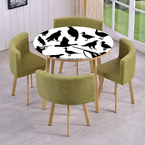 - iPrint Round Table/Wall/Floor Decal Strikers,Removable,Silhouettes of Wild Animals and Huntsman Grouse Mallard Duck Eagle Grass Decorative,for Living Room,Kitchens,Office Decoration
