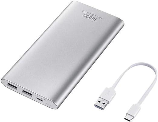 ZHD 10000mAh Powerbank Batería Externa Delgado con 2 Salidas USB para Nintendo Switch Nexus iPad iPhone Samsung Huawei BQ LG Android Teléfono Móvil,Plata: Amazon.es: Hogar