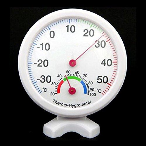 SODIAL(R) Higrometro Termometro Medidor de Humedad Temperatura Interior Exterior - Azul
