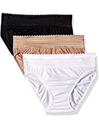 Women's No Pinching No Problems with Lace Hi-Cut 3 Pack Panties