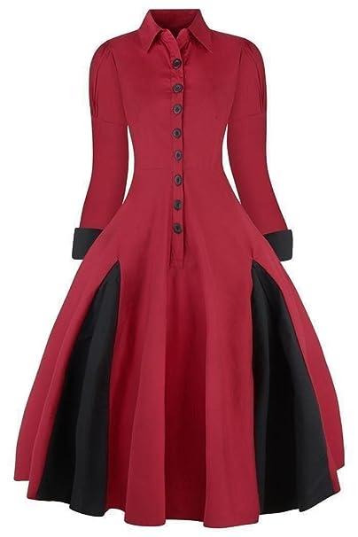 Vestido vintage tipo abrigo, de estilo victoriano, de mujer, los años