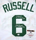 Bill Russell Boston Celtics Signed Autographed White #6 Jersey COA